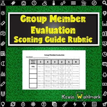 Group Member Evaluation Scoring Guide Rubrics