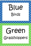 Group Name Labels for Guided Reading or Centers