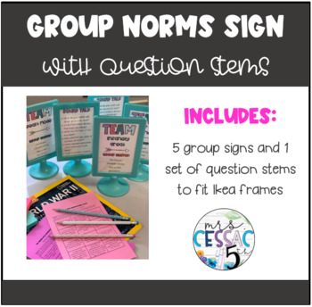 Group Norms Table Top Sign