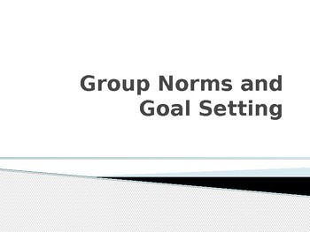 Group Norms and Goal Setting