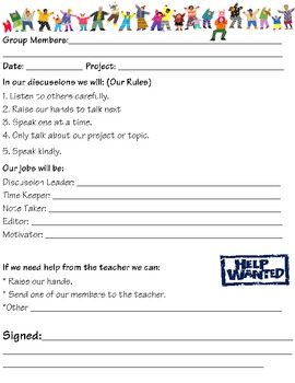 Group Work Agreement Forms