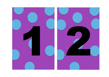 Group Numbers Polka Dot (Fits Tolsby Frame)