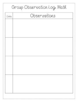 Group Observation Logs