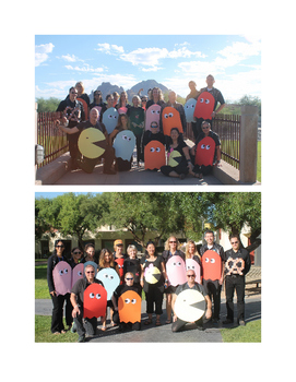 Halloween Group Costume - Pacman and Ghosts
