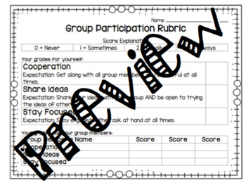 Group Participation Rubric