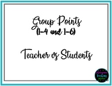 Group Points and Teacher vs Students