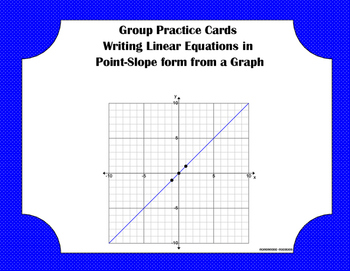 Group Practice Cards - Point-slope - PP