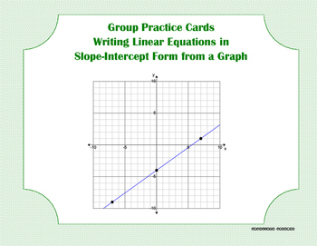 Group Practice Cards - Slope-Intercept - PP