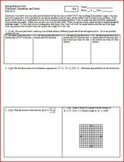 Group Practice Test Functions Sequences and Series 2011 (Editable)