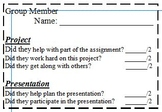 Group Presentation Peer Evaluation Rubric