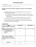 Group Presentation Project Rubric