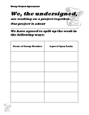 Group Project Agreement Worksheet