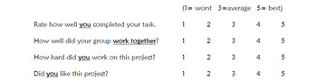 Group Project Evaluation- Students Fill Out
