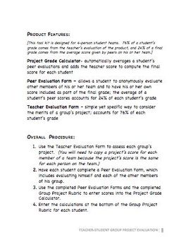 Group Project Evaluation Toolkit with Student Input