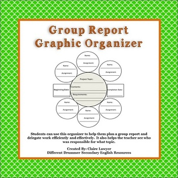 Group Project Graphic Organizer
