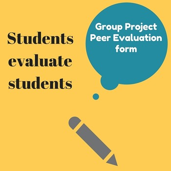 Group Project: Peer Evaluation Form
