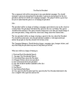 Group Project - Presidential Campaign