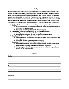 Group Reading Activity