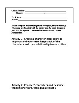 Group Reading Book Questions