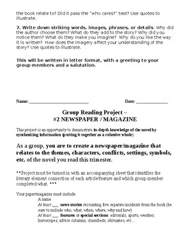 Group Reading Project - Blog & Newspaper