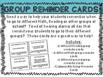 Group Reminder Cards