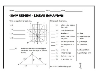 Group Review - Linear Equations