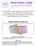 Group Role Cards - Common Core Mathematical Practice Standards