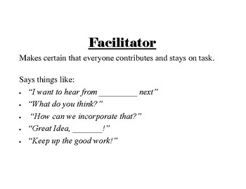 Group Role Cards for Collaborative Work