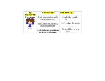 Group Role Cards for First Grade