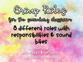Group Roles for the Secondary Classroom with Responsibilities & Sound Bites