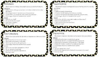 Group Roles Description Cards for Projects {Editable}