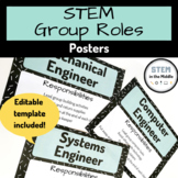 FREEBIE - Engineering Group Roles - Posters (Engineering, Science, Maker Space)