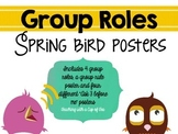 Group Roles: Spring Bird Posters