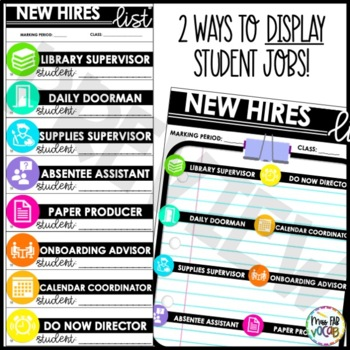 Group Roles and Class Jobs for the Secondary Classroom