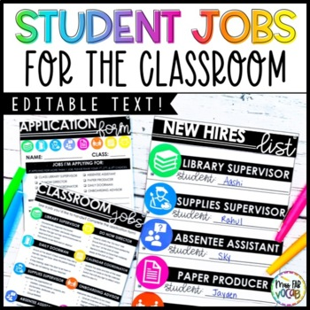 Classroom Jobs for the Secondary Classroom