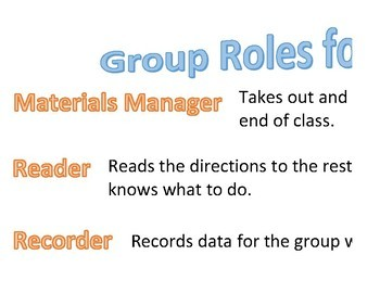 Group Roles in Science Poster
