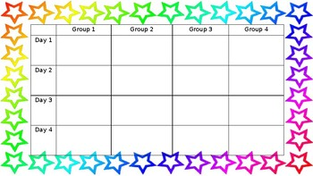 Group Rotation Schedule