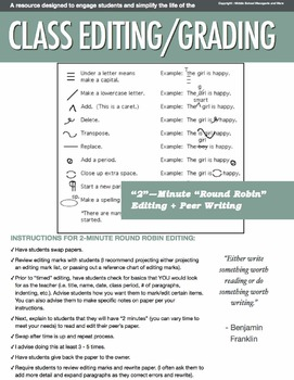 Group Round-Robin Editing & Grading: Ease Your Life as a Teacher!