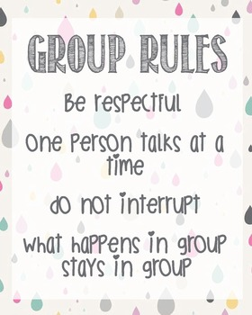 Group Rules Confidentiality School Counselor Lunch Bunch Office Therapy Respect