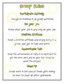 Group Rules Poster grey and yellow