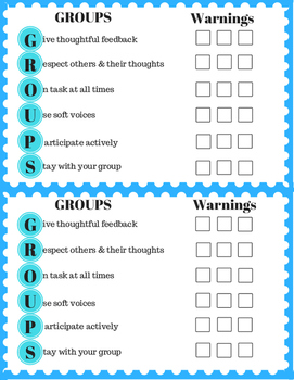 Group Rules checklist