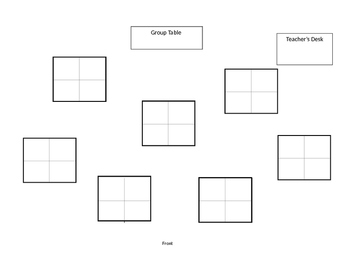 Group Seating Arrangement Template