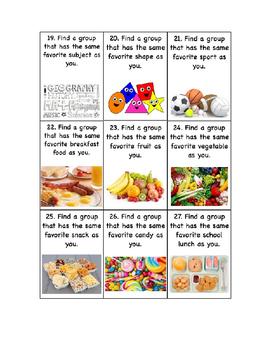 Group Selection Cards Editable Microsoft Word