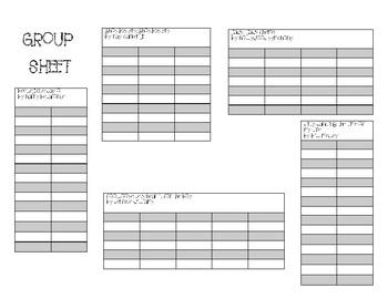 Group Sheet