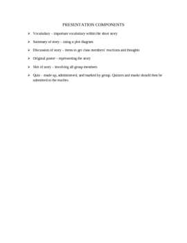 Group Short Story Unit Plan