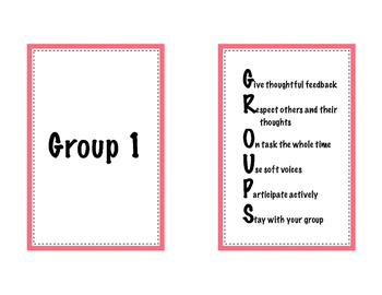 GROUPS Signs - Behaviour Management