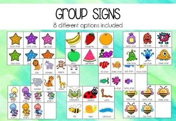 Group Signs- 8 grouping options