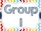 Rainbow Chevron Group Signs (All Colors/All Numbers)