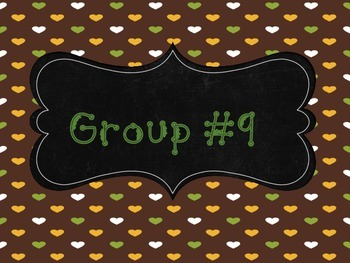 Group # Signs - Full and Qtr Sheets (Grn,Brwn,Ylw theme)  Back To School