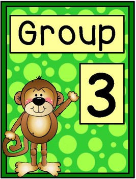 Group Signs - Monkey Theme